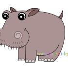 Рисование с детьми: рисуем симпатичного бегемота