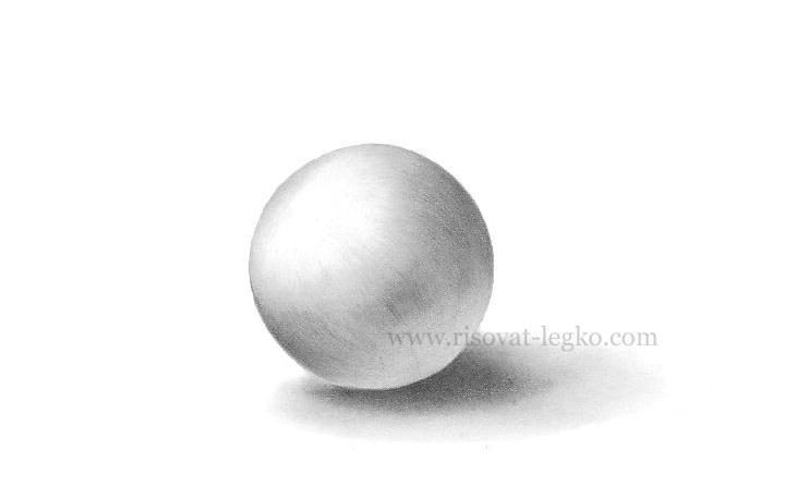 01.Как рисовать тени и объем на предметах карандашом