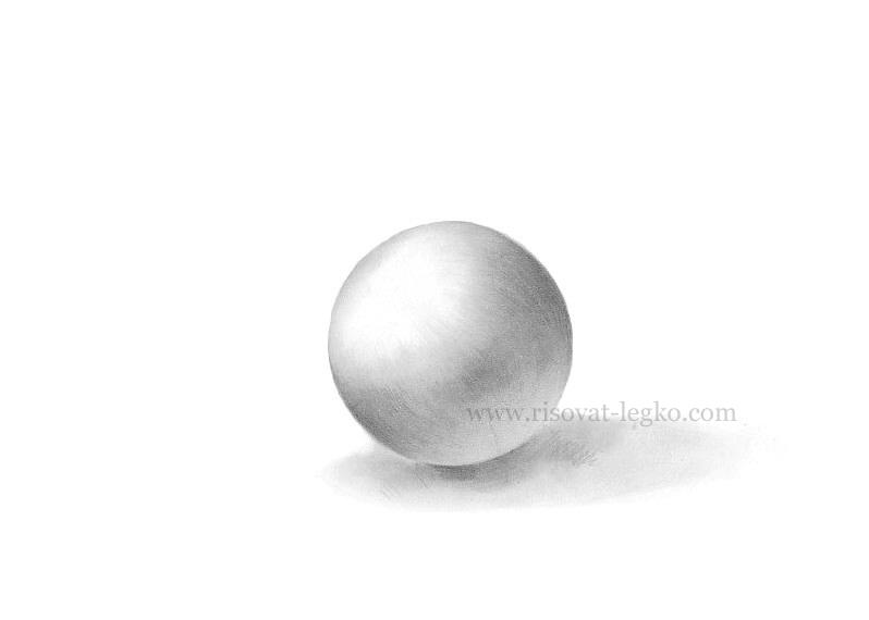 05.Как рисовать тени и объем на предметах карандашом