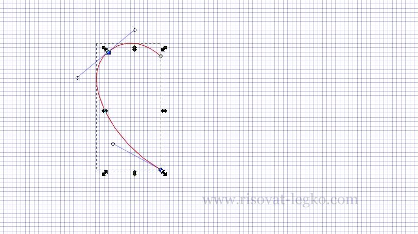 02.Как рисовать сердце поэтапно в редакторе Inkscape