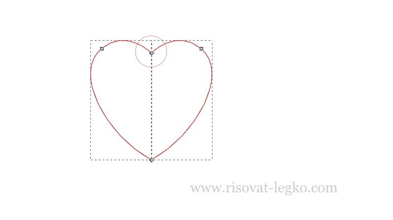 04.Как рисовать сердце поэтапно в редакторе Inkscape