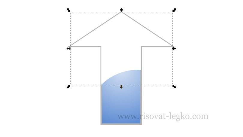 011.Легко рисовать стрелку в графическом редакторе Inkscape