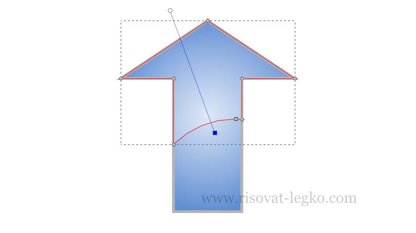 013.Легко рисовать стрелку в графическом редакторе Inkscape