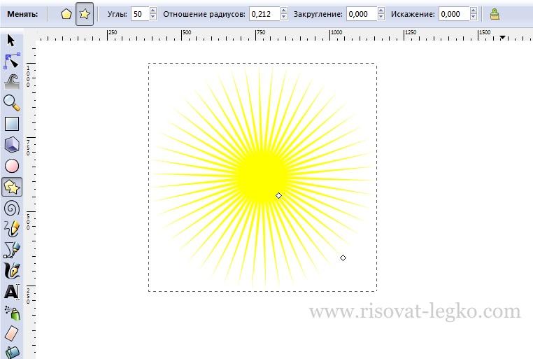 05.Как рисовать облака и солнце поэтапно в Inkscape