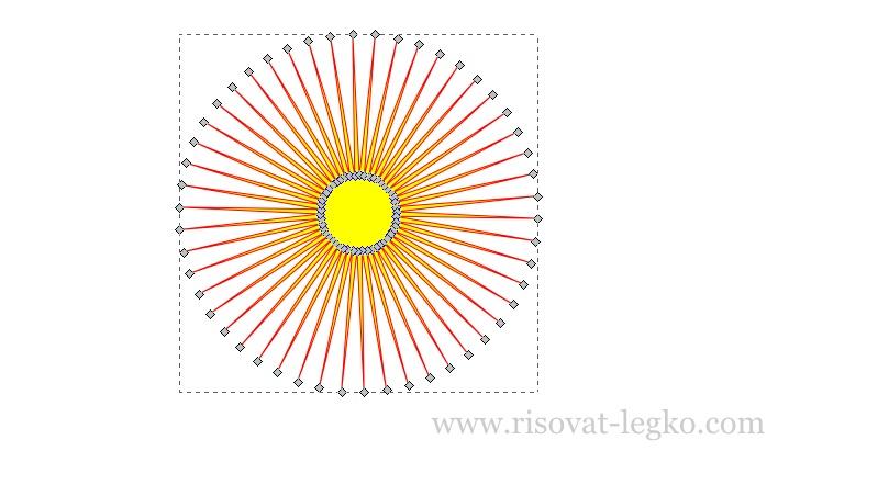 06.Как рисовать облака и солнце поэтапно в Inkscape