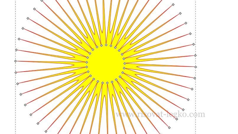 08.Как рисовать облака и солнце поэтапно в Inkscape