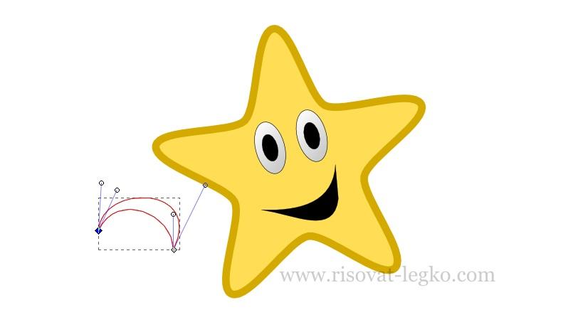 012.Рисуем пошагово: веселая звездочка в Inkscape