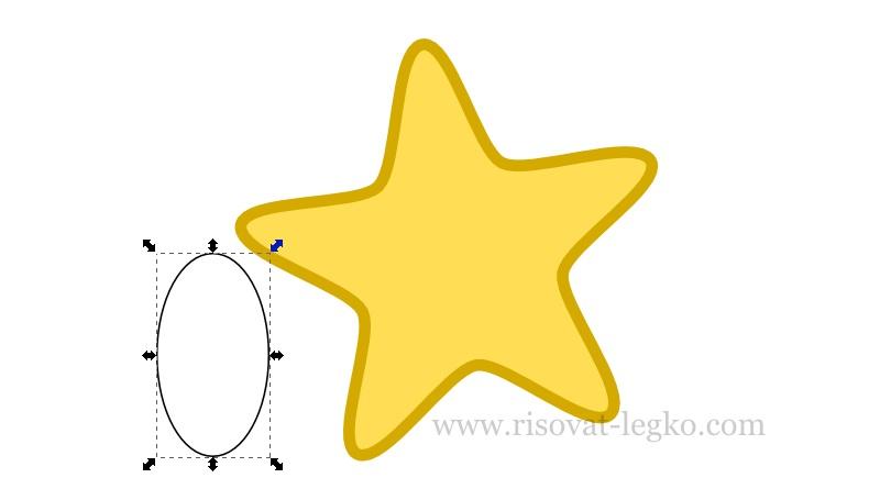 05.Рисуем пошагово: веселая звездочка в Inkscape