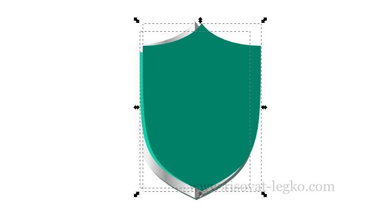 010.Inkscape уроки: рисуем щит в графическом редакторе