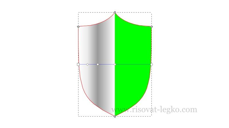 06.Inkscape уроки: рисуем щит в графическом редакторе