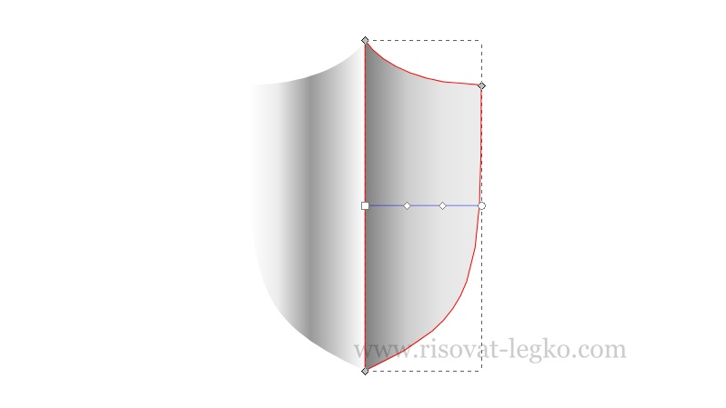 07.Inkscape уроки: рисуем щит в графическом редакторе