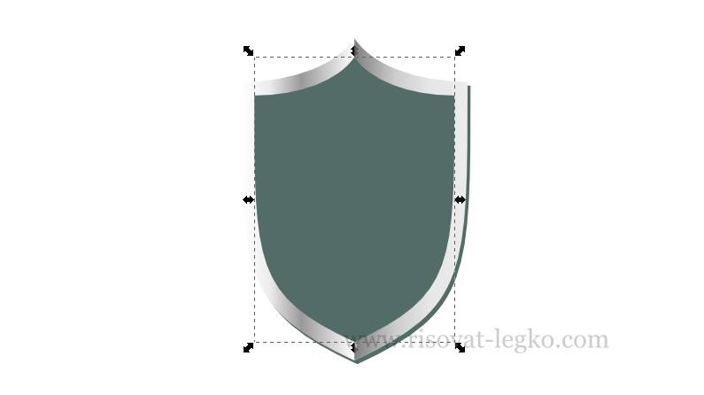 09.Inkscape уроки: рисуем щит в графическом редакторе