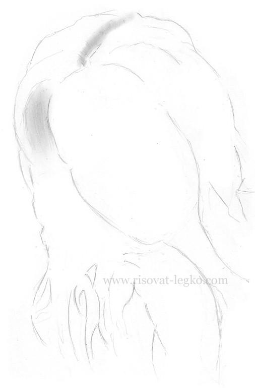 02.Волосы карандашом: рисуем поэтапно волосы шатенки