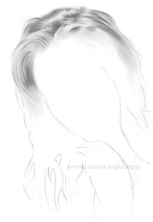 04.Волосы карандашом: рисуем поэтапно волосы шатенки