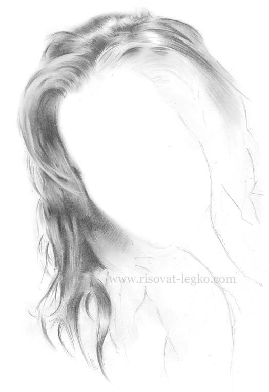 05.Волосы карандашом: рисуем поэтапно волосы шатенки