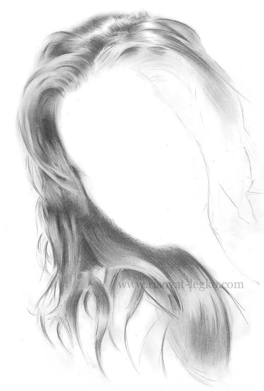 06.Волосы карандашом: рисуем поэтапно волосы шатенки