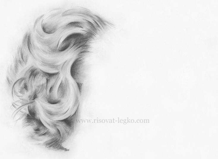 01.Как нарисовать волосы: рисуем завитые локоны