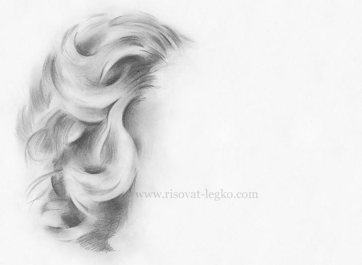 05.Как нарисовать волосы: рисуем завитые локоны