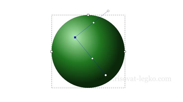 03.Инскейп уроки: как нарисовать бильярдный шар