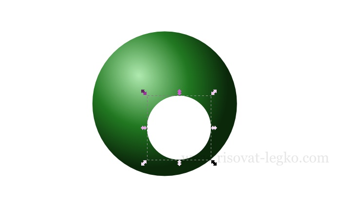 04.Инскейп уроки: как нарисовать бильярдный шар