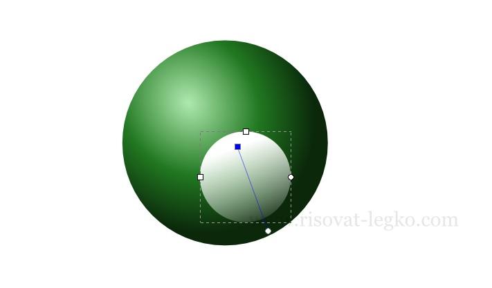 05.Инскейп уроки: как нарисовать бильярдный шар