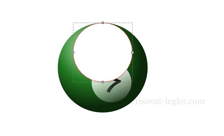 07.Инскейп уроки: как нарисовать бильярдный шар