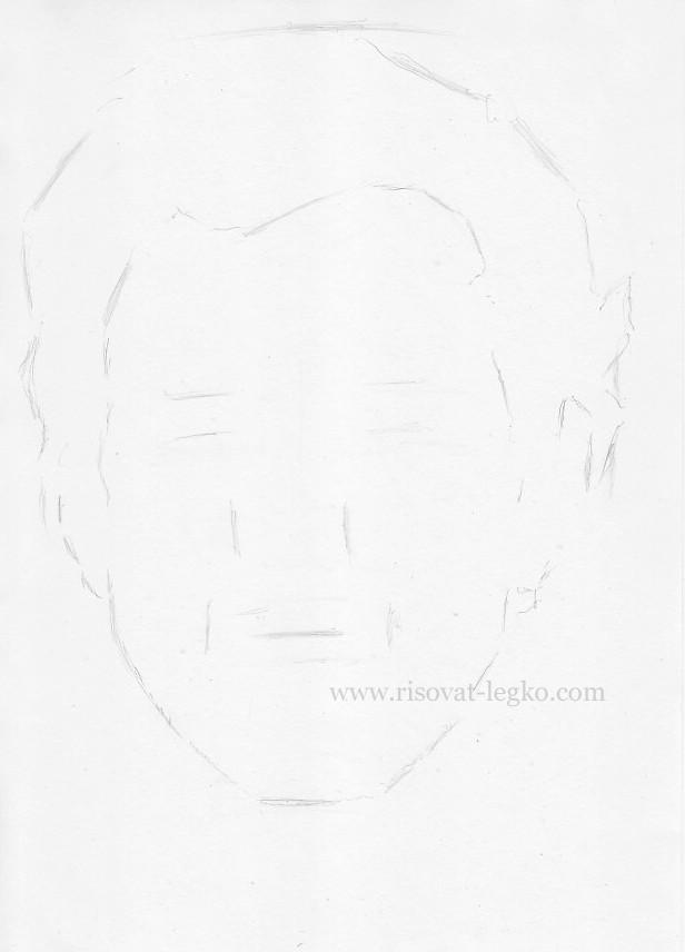 04.Как нарисовать портрет карандашом поэтапно: часть 1