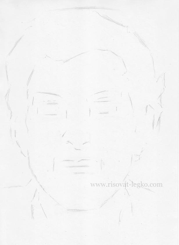 05.Как нарисовать портрет карандашом поэтапно: часть 1