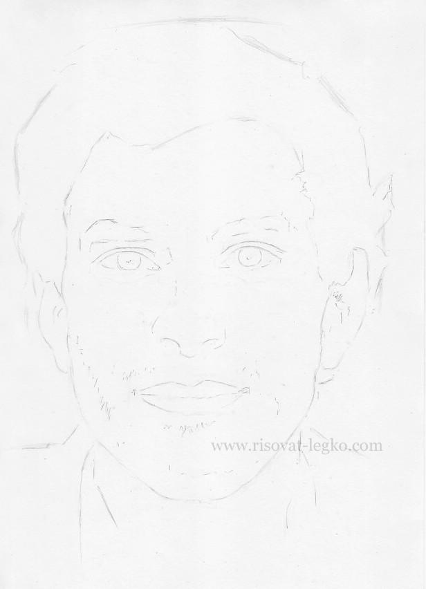 07.Как нарисовать портрет карандашом поэтапно: часть 1