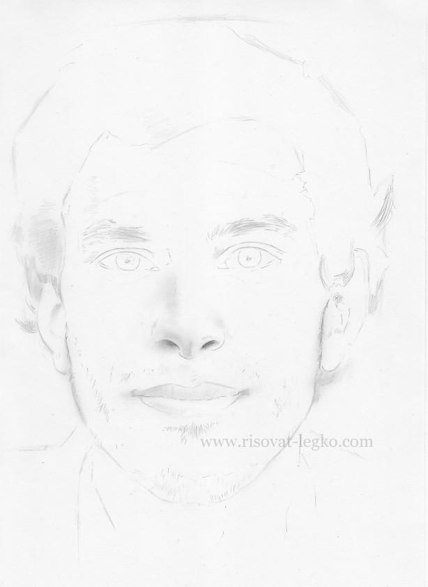 02.Как нарисовать портрет карандашом поэтапно: часть 2