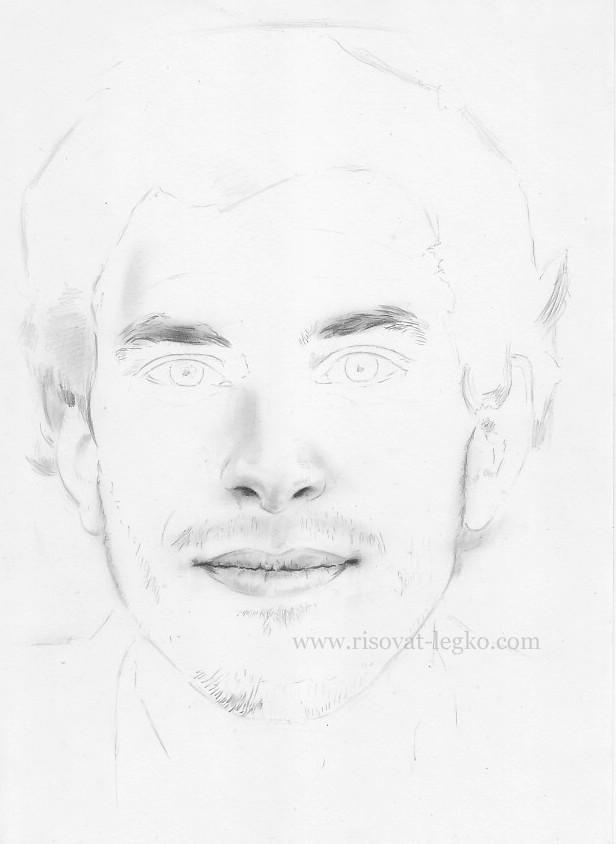 04.Как нарисовать портрет карандашом поэтапно: часть 2