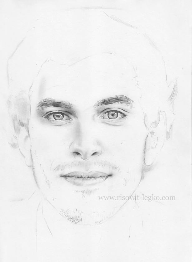 05.Как нарисовать портрет карандашом поэтапно: часть 3