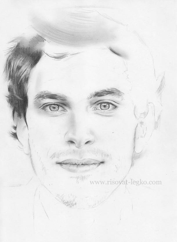 02.Как нарисовать портрет карандашом поэтапно: часть 4