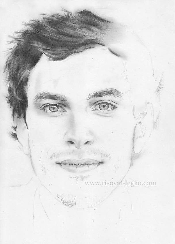 03.Как нарисовать портрет карандашом поэтапно: часть 4