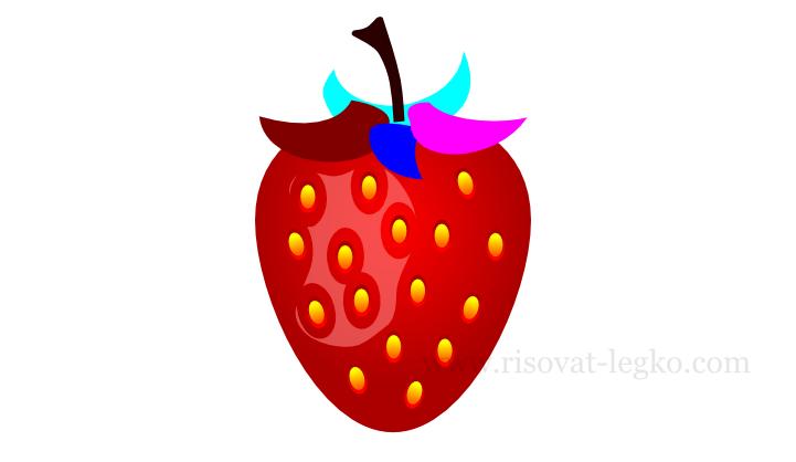 010.Как нарисовать клубнику в программе Inkscape