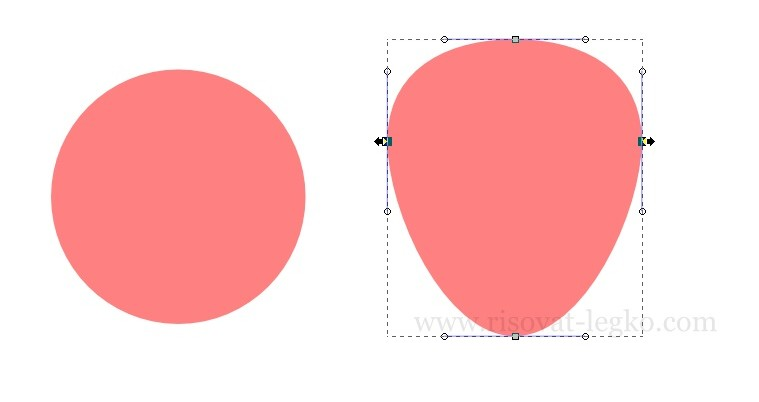 02.Как нарисовать клубнику в программе Inkscape
