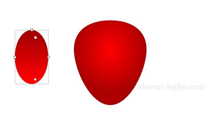 04.Как нарисовать клубнику в программе Inkscape