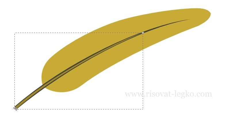 04.Как нарисовать перо поэтапно в программе Inkscape