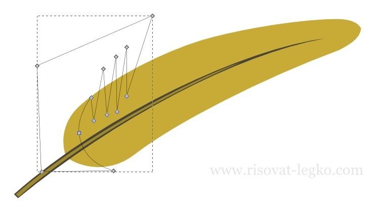 05.Как нарисовать перо поэтапно в программе Inkscape