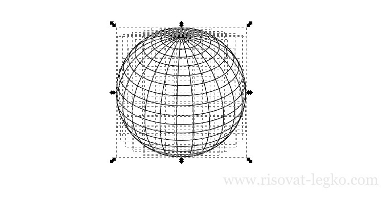 03.Диско-шар поэтапно в программе Inkscape