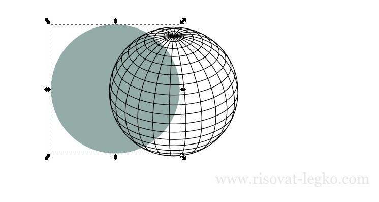 04.Диско-шар поэтапно в программе Inkscape