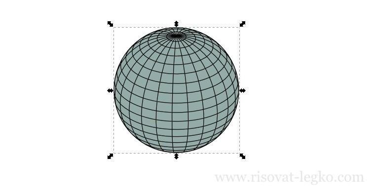 05.Диско-шар поэтапно в программе Inkscape