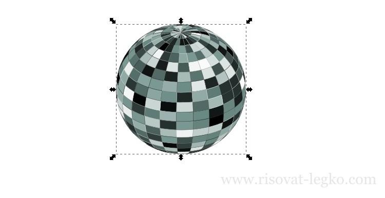 07.Диско-шар поэтапно в программе Inkscape