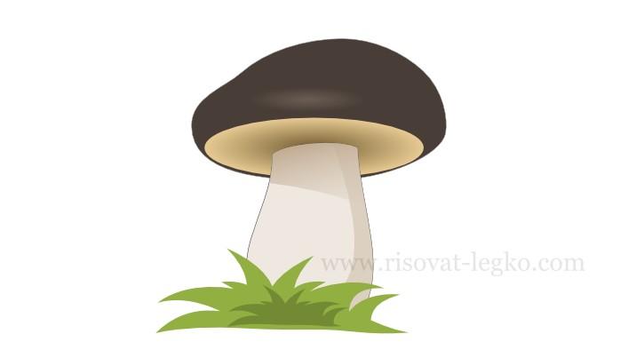 01.Как нарисовать гриб поэтапно в программе Inkscape