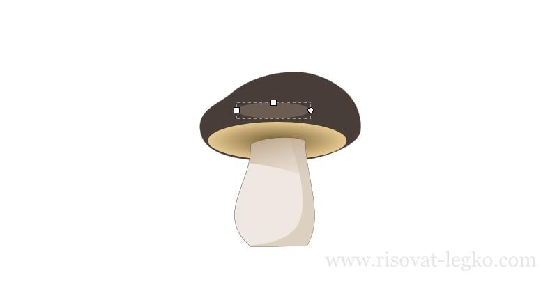 11.Как нарисовать гриб поэтапно в программе Inkscape