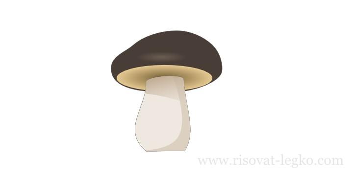 12.Как нарисовать гриб поэтапно в программе Inkscape