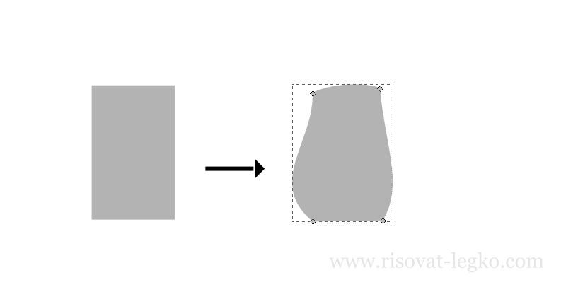 02.Как нарисовать гриб поэтапно в программе Inkscape