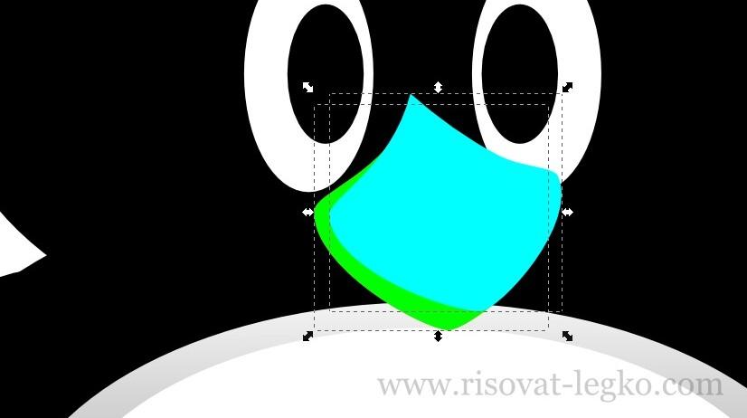 10.Как нарисовать пингвина в программе Inkscape