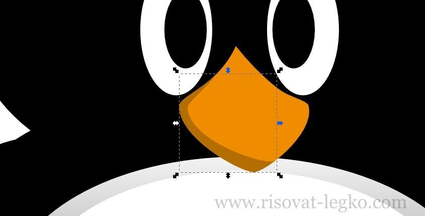 11.Как нарисовать пингвина в программе Inkscape