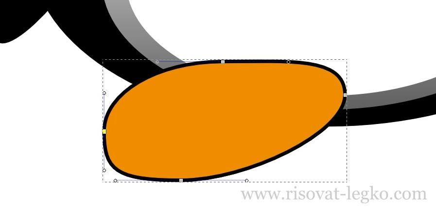 12.Как нарисовать пингвина в программе Inkscape